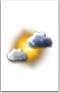 Sole con nuvole