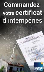 certificats intemp�ries